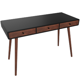 Edelweiss desk, walnut/black