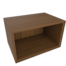 Forma Rectangular Open Box, Walnut