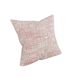 "Girard Pillows in Retrospective , Red - 17"" x 17"""