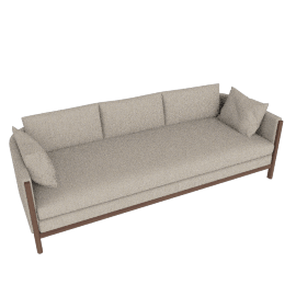 Emmy Sofa, Pebble Weave - Buff