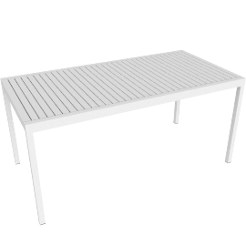 Eos Rectangular Table - White