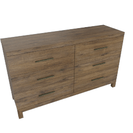 Sleek 6-Drawer Dresser