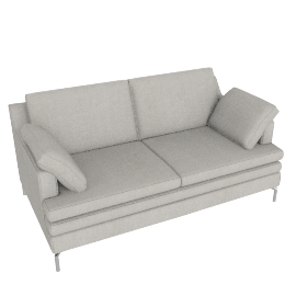 Turin Medium Sofa, Newlyn Charcoal