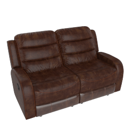 Chaplin 2 Seater Recliner Rust Brown