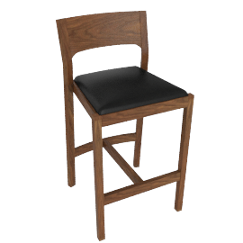 Profile Counter Stool, Walnut