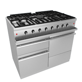 Westahl WG1052GE Dual Fuel Cooker, Stainless Steel