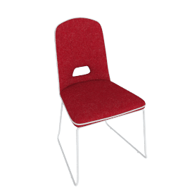 Arlo Dining Chair, Red/White