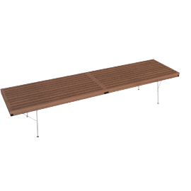 Nelson Platform Bench, 72'' with Metal Legs