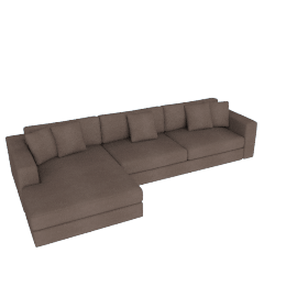 Reid Sectional Chaise Left, Heather