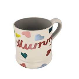 Emma Bridgewater Polka Dot Hearts Daddy 1/2 Pint Mug