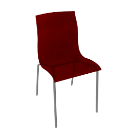 Gel Side Chair, Red