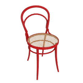 Era Chair with Cane - Red