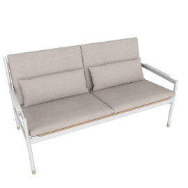 Sommer Two-Seater Sofa, White / Natural