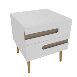 Notch 2 Drawer Bedside Table
