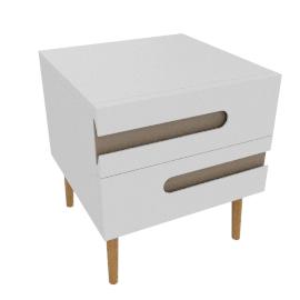 Notch 2 Drawer Bedside Table