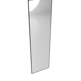 Mondrian Mirror 22'' x 80'', Black