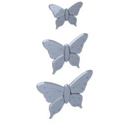 Flutter Butterflies Wall Decor - Set of 3