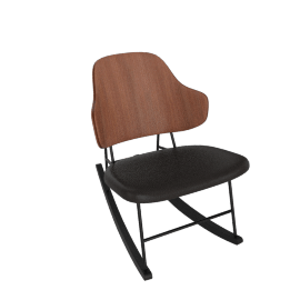 Penguin Rocker, Walnut/Black