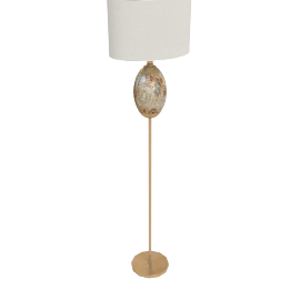 Dry Lemon Resin Floor Lamp 153Cmh-Gold With Silver