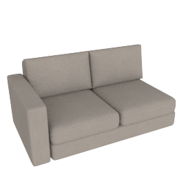 Eterno 2 Seater With Left Arm, Sand