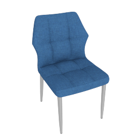 Hexa Dining Chair, Blue