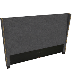 Stellar Gem King Headboard, Black