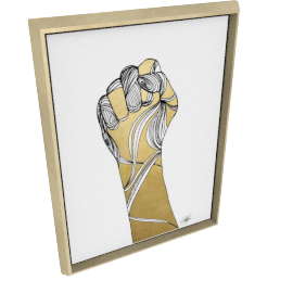 Sign Language XI by KelliEllis - 24''x32'', Gold
