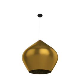 Beat Stout Pendant, Brushed Brass