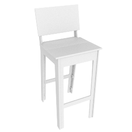 Fresh Air Barstool, White