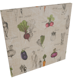 Veggies Canvas Print Wall Art - 80x3x80 cms