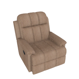 Berry 1 Seater Rocking Recliner, Brown