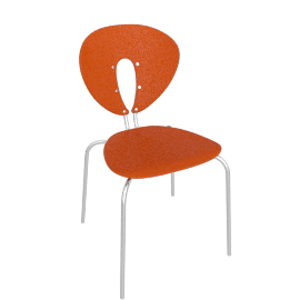 Globus Chair - Plastic/Chrome - Matte.Orange