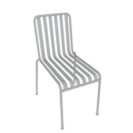 Palissade Side Chair, Sky Grey