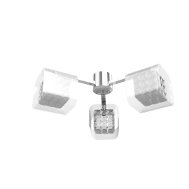 Vincenzo Square Crystal Cube Semi-Flush