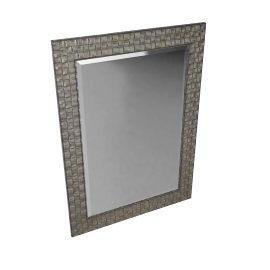 Mosaic Silver Wall Mirror, 90 x 65cm