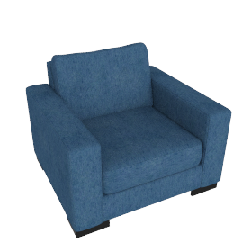 Signature Armchair, Blue