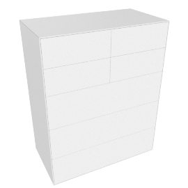 Lauki Tall Dresser, White