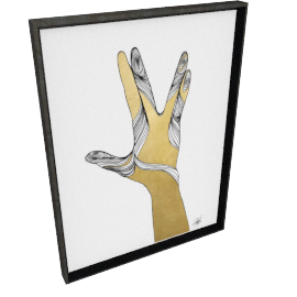 Sign Language VIII by KelliEllis - 24''x32'', Black
