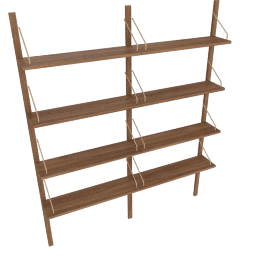 Royal System 2-Bay Shelving Unit, Walnut