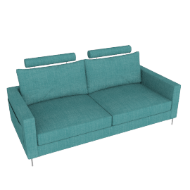Stanley 3 Seater Turquoise Blue