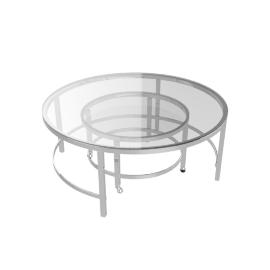 Bellagio Coffe Table Set of 2pcs, Chrome