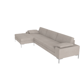 Arena Sectional with Chaise Right, Pebble Weave Buff