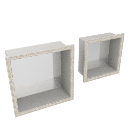 Ariel set of 2 wall shelf, Cream / Gold