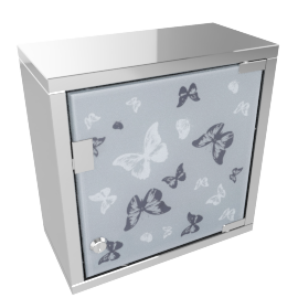 Butterflies Bathroom Cabinet with Lock