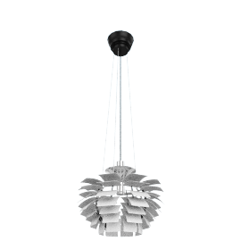 Artichoke Lamp - Small, White - White
