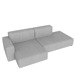 Mags Soft Low Sectional with Left Chaise, Remix 0123 light grey