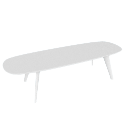 Solapa Slim Table Low, White