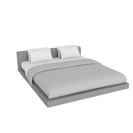 Softwall Cal. King Bed in Fabric, Fabric Ducale Wool, Light Grey