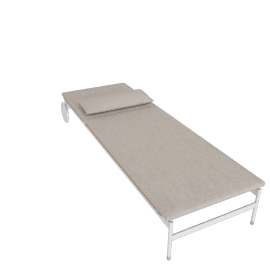 Sommer Adjustable Chaise, White / Natural