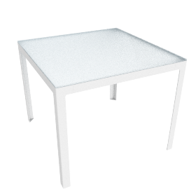 Min Table, Small with Glass Top - Glass